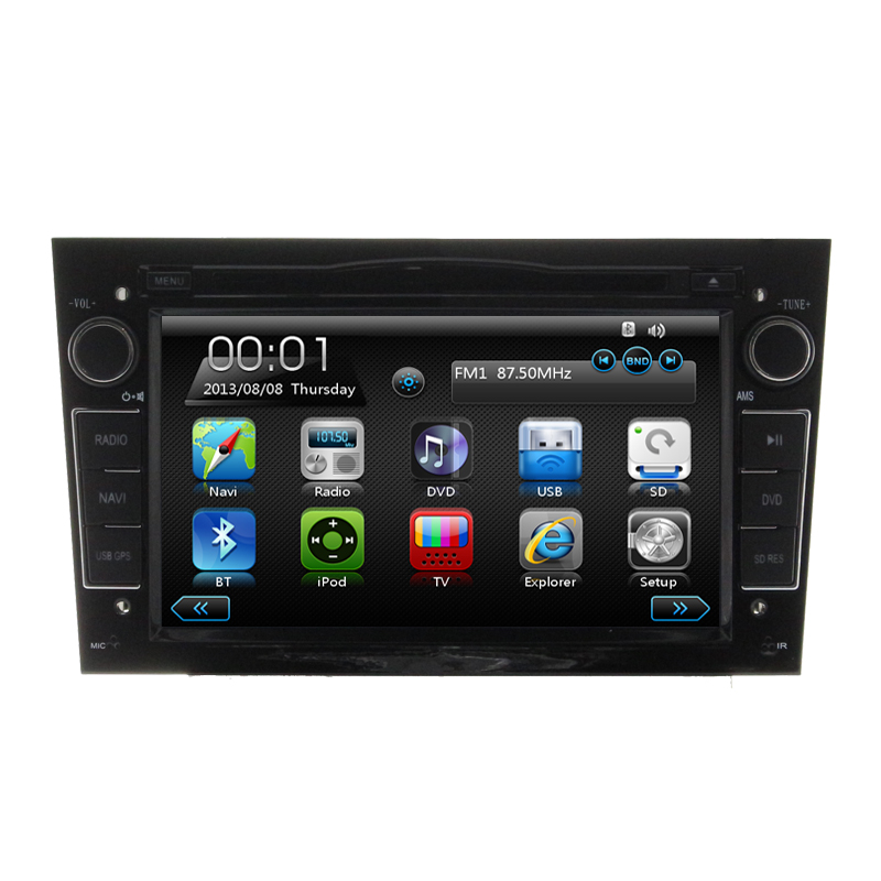 black car dvd player headunit navi autoradio for vauxhall. Black Bedroom Furniture Sets. Home Design Ideas