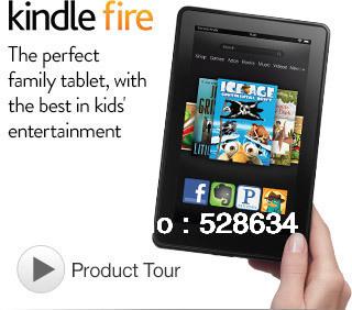"Kindle Fire Tablet 7"" LCD Display, Wi-Fi, 8GB"