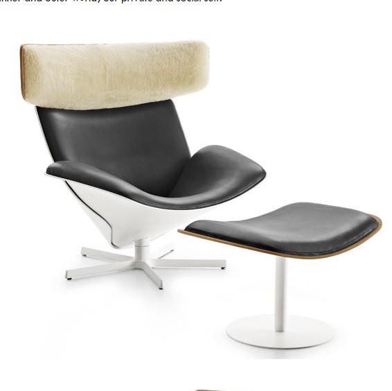 Popular Italian modern Living room furniture designer furniture lounge Swivel leisure armchair accent chair