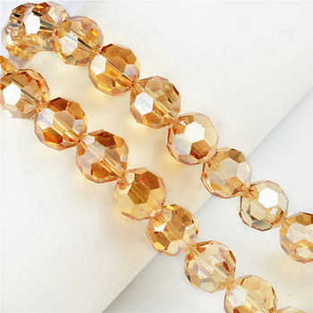 Factory direct crystal beads wholesale crystal champagne faceted round beads
