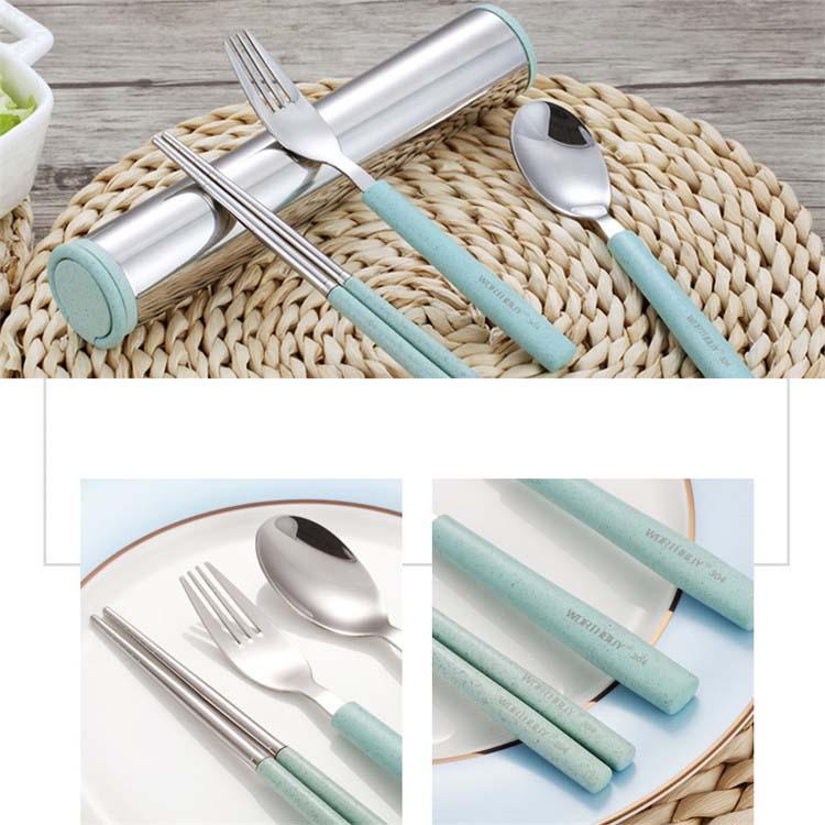 Бесплатный образец, набор посуды из нержавеющей стали для пикника