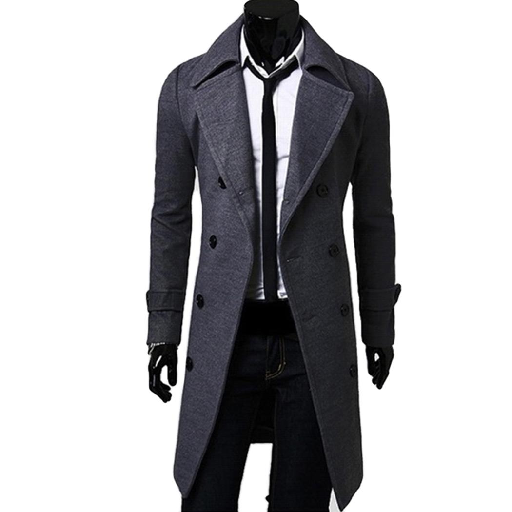 fcd31e19f822 2019 Wholesale 2017 Casual Winter Mens Slim Stylish Trench Coat ...
