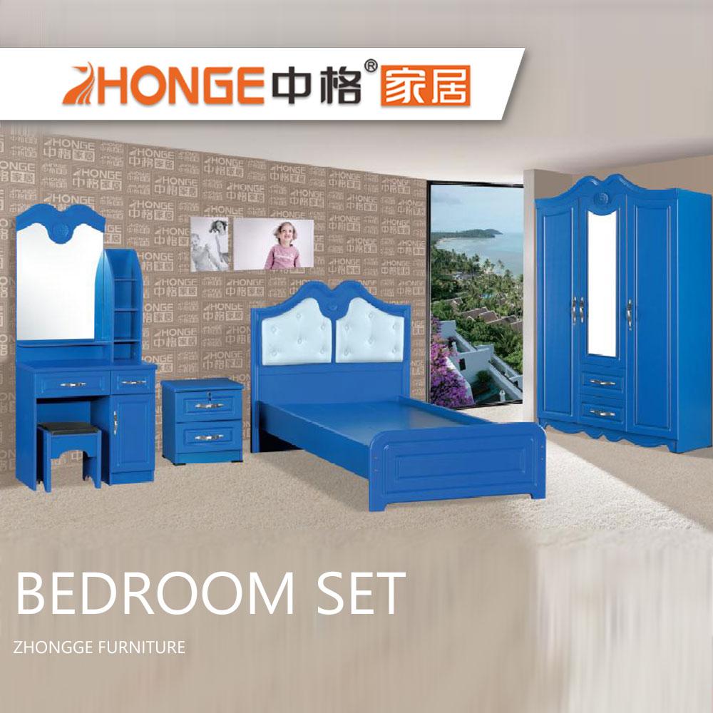 Hot Sale Modern Design New Model Boys Bedroom Set Pvc Wooden Kids