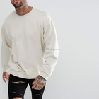 CrewNeck Dropped Shoulders sleeve Oversize Plain Sweatshirt For Men