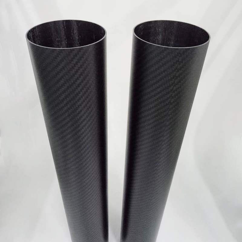 Трубка из углеродного волокна с 3K переплетением, большой диаметр 80 мм, 100 мм, 120 мм, 150 мм, для продажи