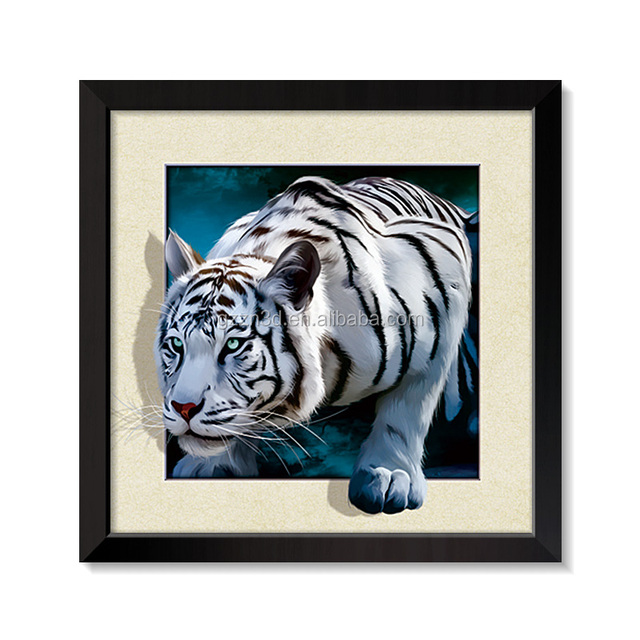 5D Pictures Lenticular Image / Poster With Black PS Frame