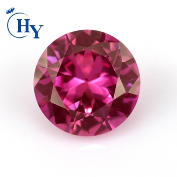 Fake gemstone AAA grade 5# red ruby round 5mm ruby for jewelry
