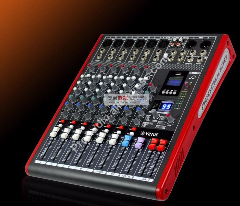 new 6 channel high end mixing console studio audio mixers mixer 24 bit multi fx processor 99. Black Bedroom Furniture Sets. Home Design Ideas