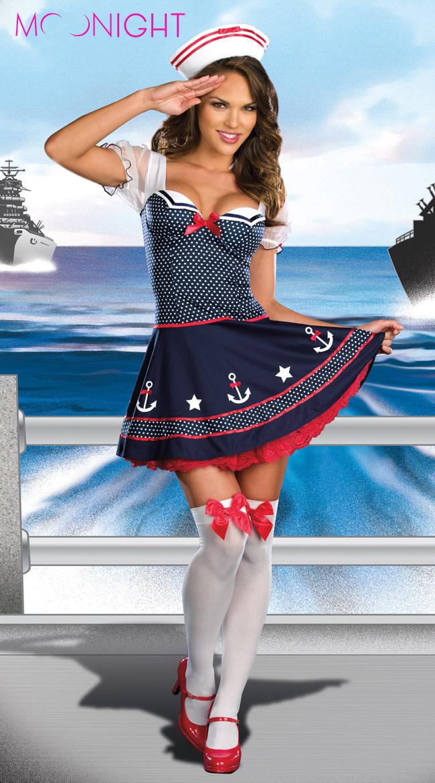 online kaufen gro handel navy costume women aus china navy costume women gro h ndler. Black Bedroom Furniture Sets. Home Design Ideas