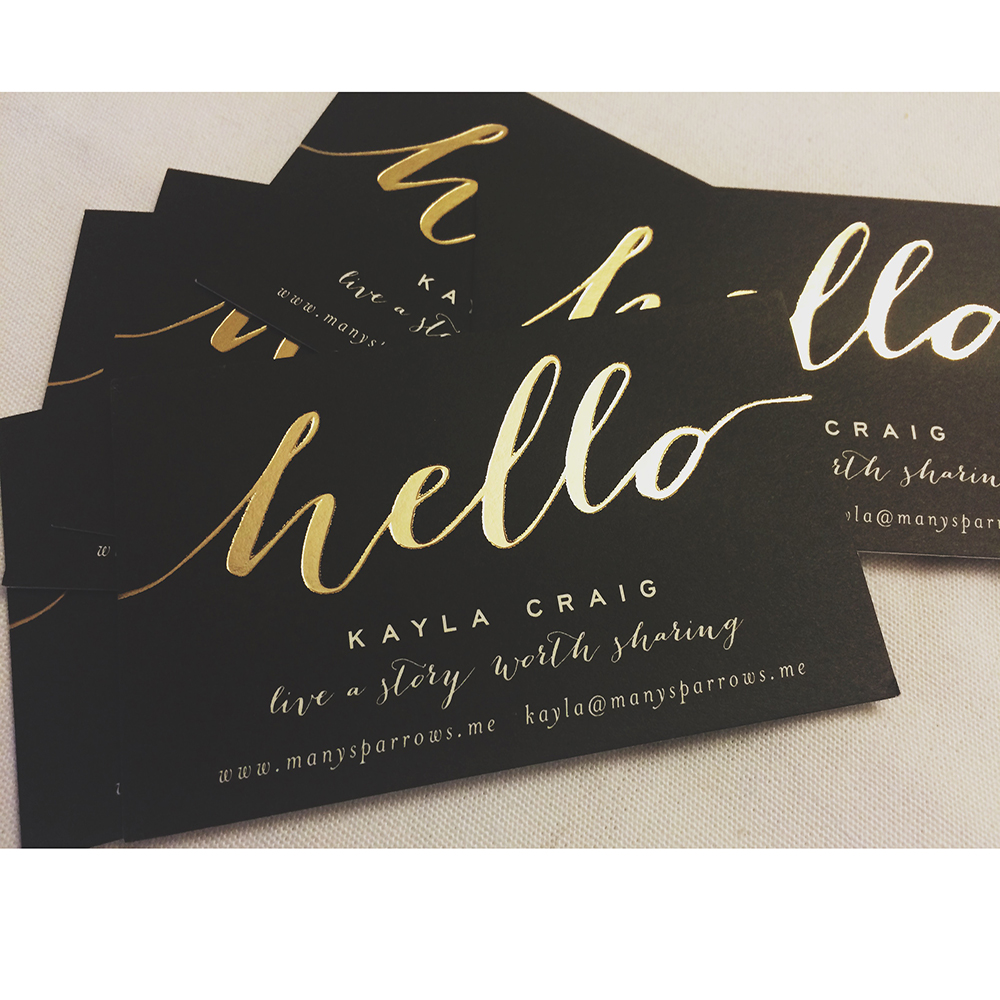 2021 hot sell cotton paper gold foil business card printing