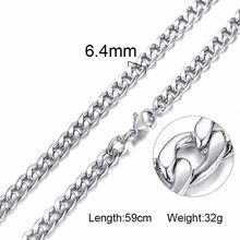Однотонное ожерелье, цепочка-чокер из нержавеющей стали для мужчин и женщин, модные аксессуары(Китай)
