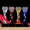Heart crystal trophy