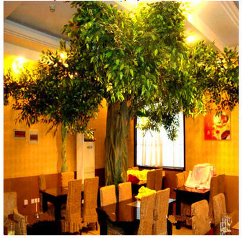 Large Indoor Plants Artificial Foliage Plants Wall Decoration Artificial Live Ficus Tree Real Looking Like Natural Tree Global