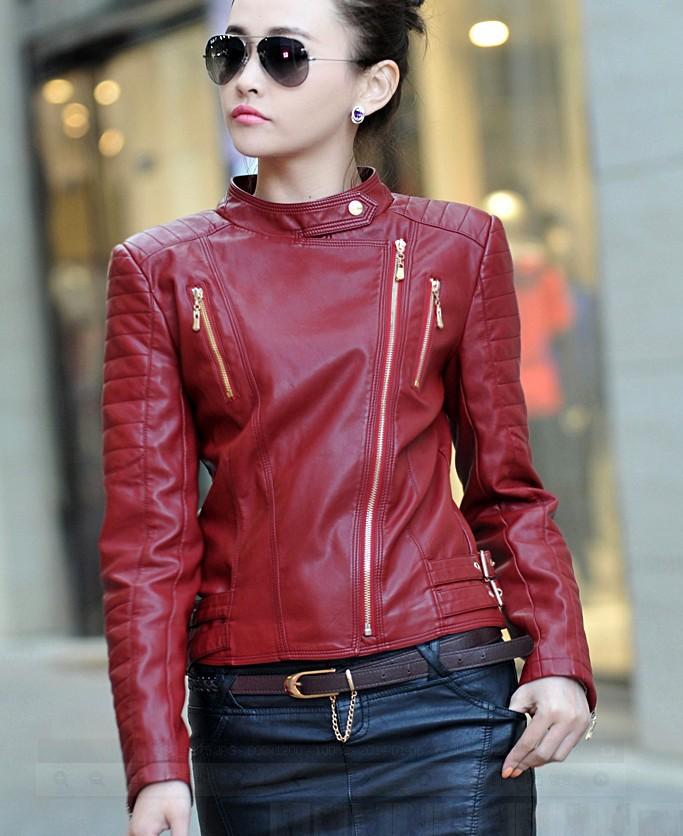 2019 Wholesale New 2015 Autumn Winter Women Jackets Leather Coats