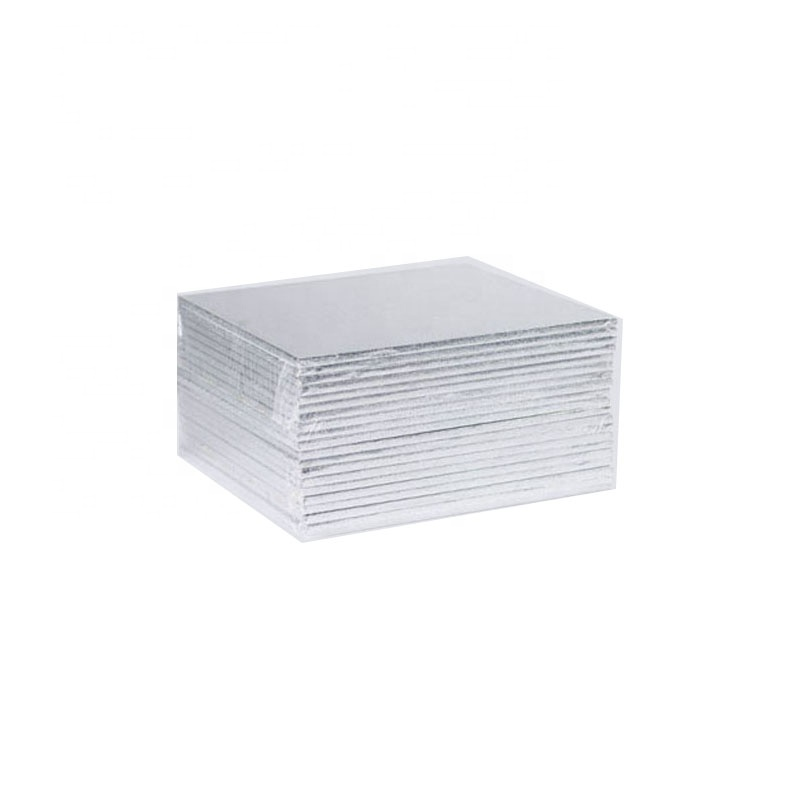 Square shape silver wood cake boards wholesale