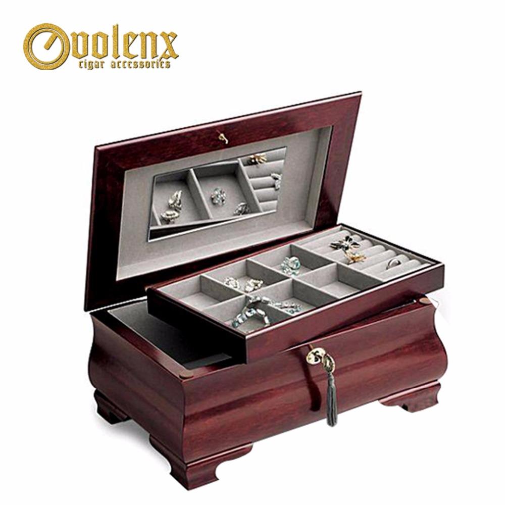 wooden jewelry box birch treasure box wood box with mirror small jewelry box box with a mirror jewelry box mirror box with mirror