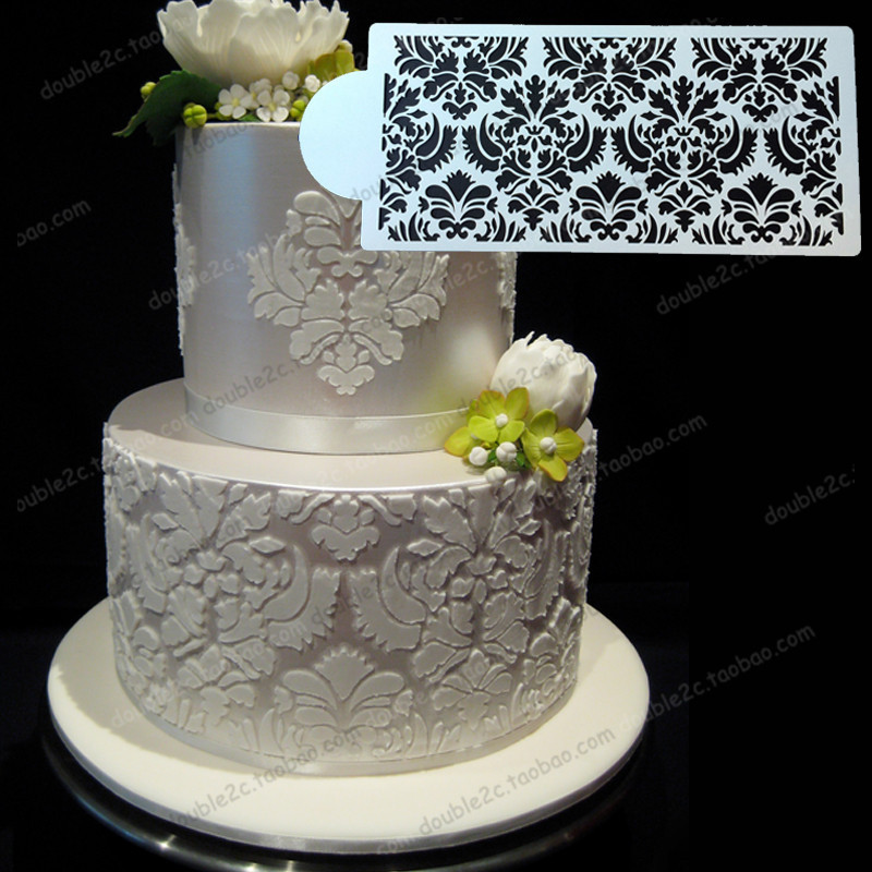 Buy wedding cake stencil 12 6 x6 1 32x15 for Lace templates for cakes