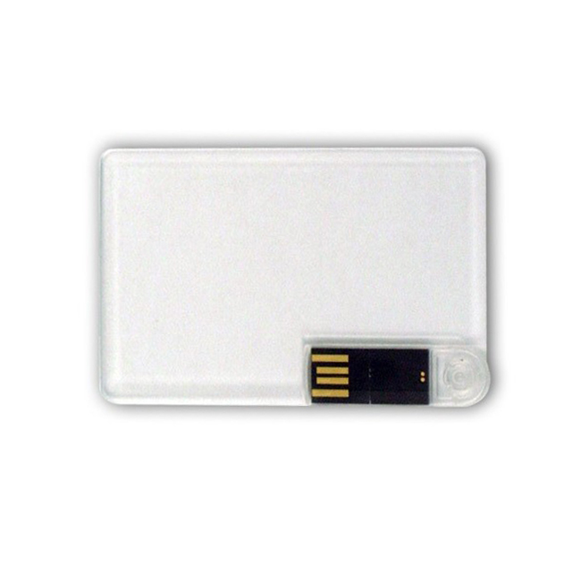 USB 2.0 interface customized logo printing side swivel out 8gb transparent credit card usb flash drive - USBSKY | USBSKY.NET