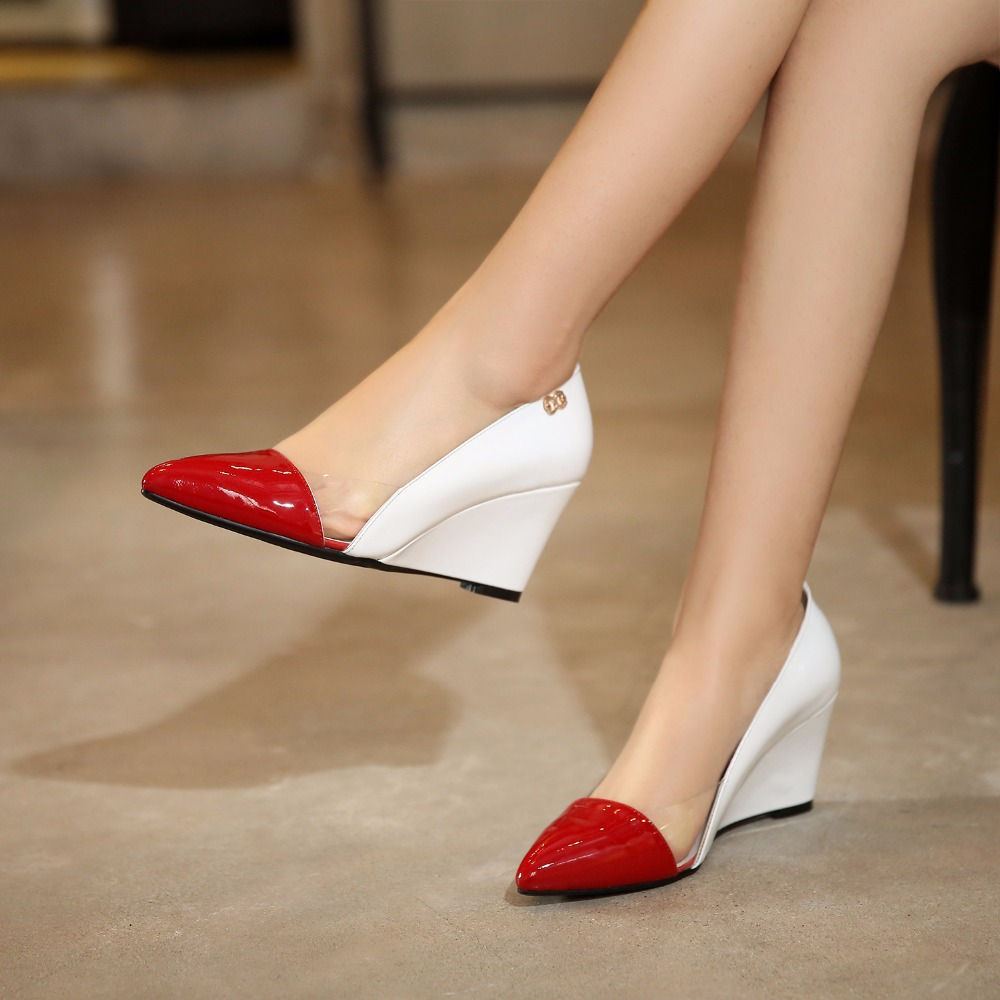 Low Price Wholesale New Fashion Women Pumps Wedges High