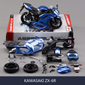 KWSK ZX6R Blue Motorcycle Model Building Kits motorcycle model building kits 1 12 assembly toy kids