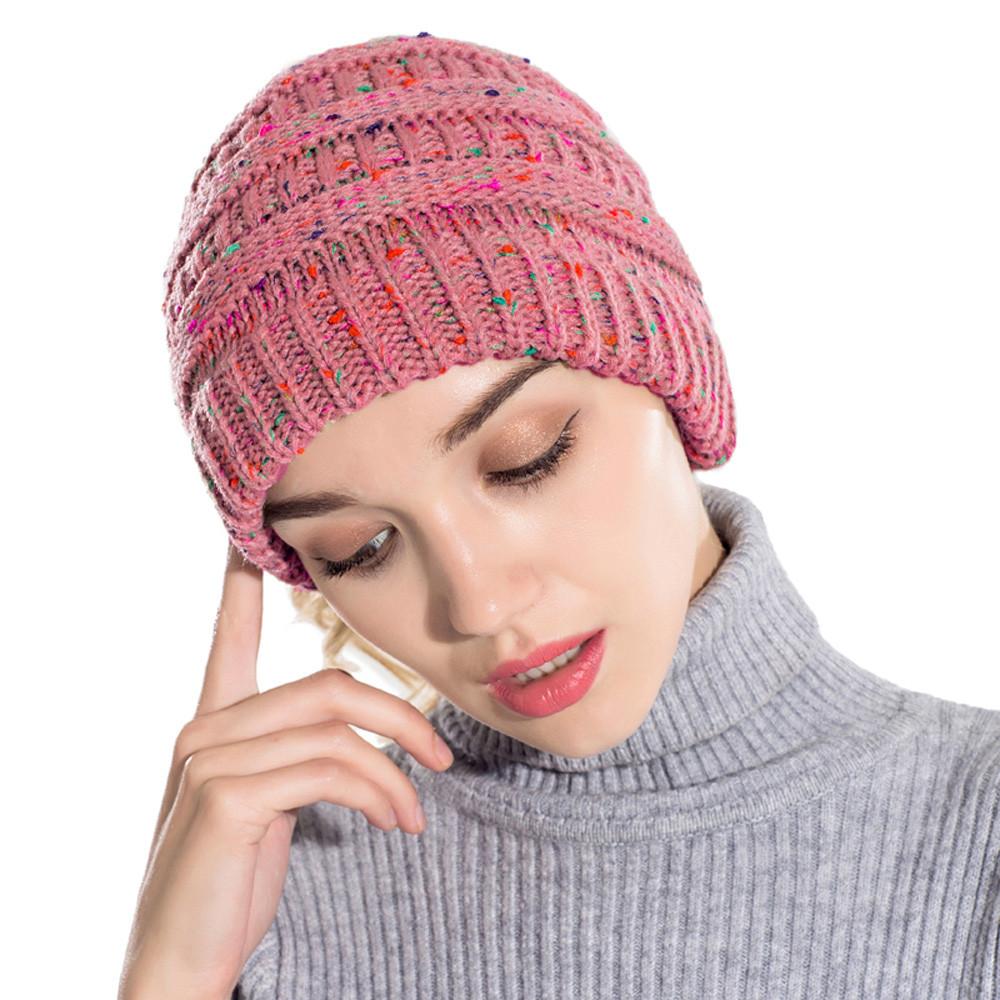 Acheter Feitong Femmes Baggy Chaud Crochet Hiver Laine Tricot Ski ... 83b09dd9ad4