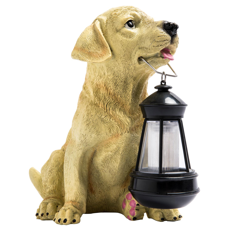 XLTD-510 solar garden spot light type waterproof  resin animal shaped dog solar garden led light