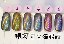 12pcs chameleon cat eye gel nail polish soak off uv color gel 6ml Free Shipping