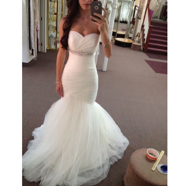 MZYW0012 strapless sweetheart neckline ruched bodice ...