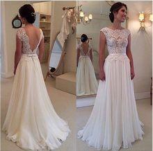 New Design wedding dresses Custom Made vestidos de noiva Sexy Bridal Gown Cap Sleeve Lace wedding dress 2015