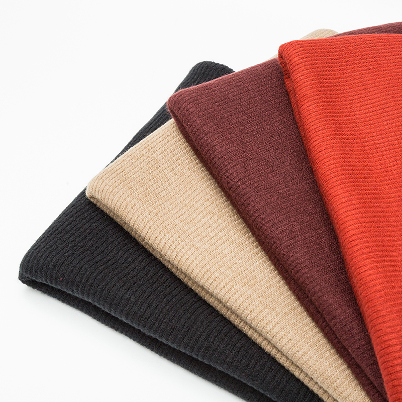 Good quality best thick polyester fabric price kg rib knitting