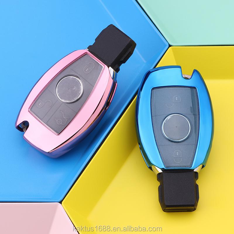 Для Benz класс A/B/C/E/S  V SL  мл  SLS  R GLK/SLK  CLA  AMG  GLA, GLC ключа автомобиля чехол TPU защитную крышку Carkey чехол