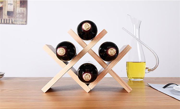 V Shape 4 Bottle Tabletop Wine Holder Wooden Solid Wood Wine Rack Buy Decorative Wine Bottle Holders V Shape 3 Bottle Holder Solid Wood V Rack Product On Alibaba Com