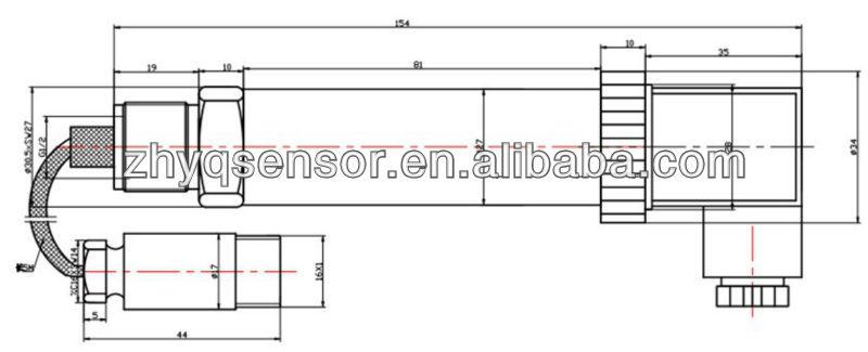 ZHYQ Capacitive 0 5v fuel level sensor