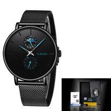 LIGE новые женские роскошные брендовые часы простые Кварцевые женские водонепроницаемые наручные часы женские модные повседневные часы reloj ...(Китай)