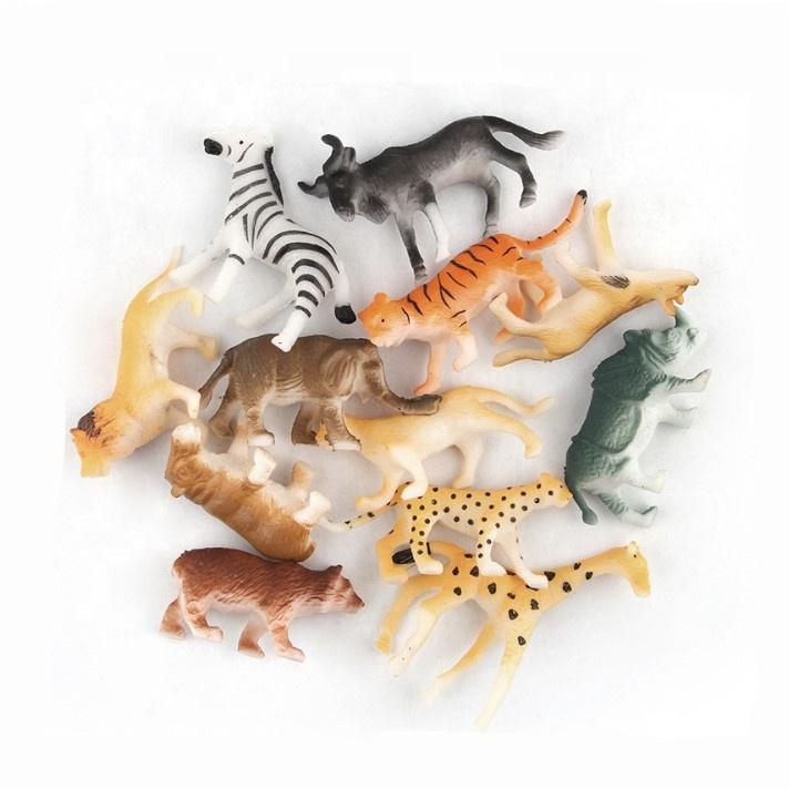 Фигурки животных, игрушечные мини-фигурки животных в джунглях, набор игрушек в ассортименте, реалистичные модели диких животных для мальчиков и девочек