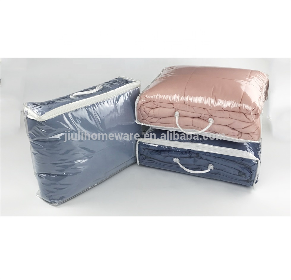 Wholesale Solid comforter set edredones 100%polyester Makaron colors resilient filling