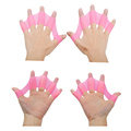 Soft Silicone Swimming Fins Flippers Frog Hand Swim Web Webbed Glove Training Paddle Dive Swimming Equipment