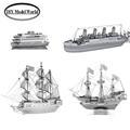 Laser cutting DIY metal model Metal Earth 3D Model Kits Set of 4 boats Commuter Ferry