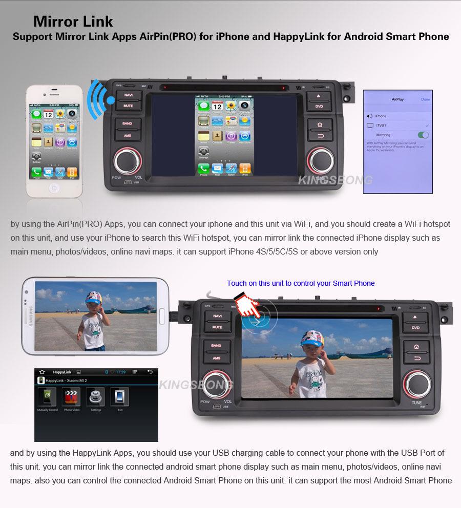 7″ Dual-Core Car DVD Player GPS For BMW 3er E46 M3 Rover 75