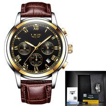 LIGE мужские часы, модные лучшие брендовые Роскошные деловые водонепроницаемые автоматические механические часы, мужские полностью стальны...(Китай)