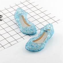 Новинка; Модные летние сандалии с кристаллами для девочек; Прозрачная обувь принцессы на высоком каблуке; Босоножки принцессы; Вечерние туф...(Китай)