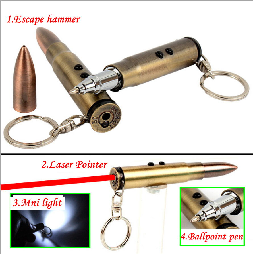 Новинка мини-пуля форма подвеска брелок многофункциональный выживания self-оборонительная ручка тактический дефенса личная 4 в 1 EDC