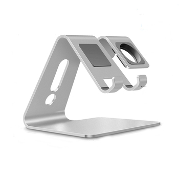 New product 2021 aluminum 2 in 1 wrist watch mobile stand cell phone desktop holder