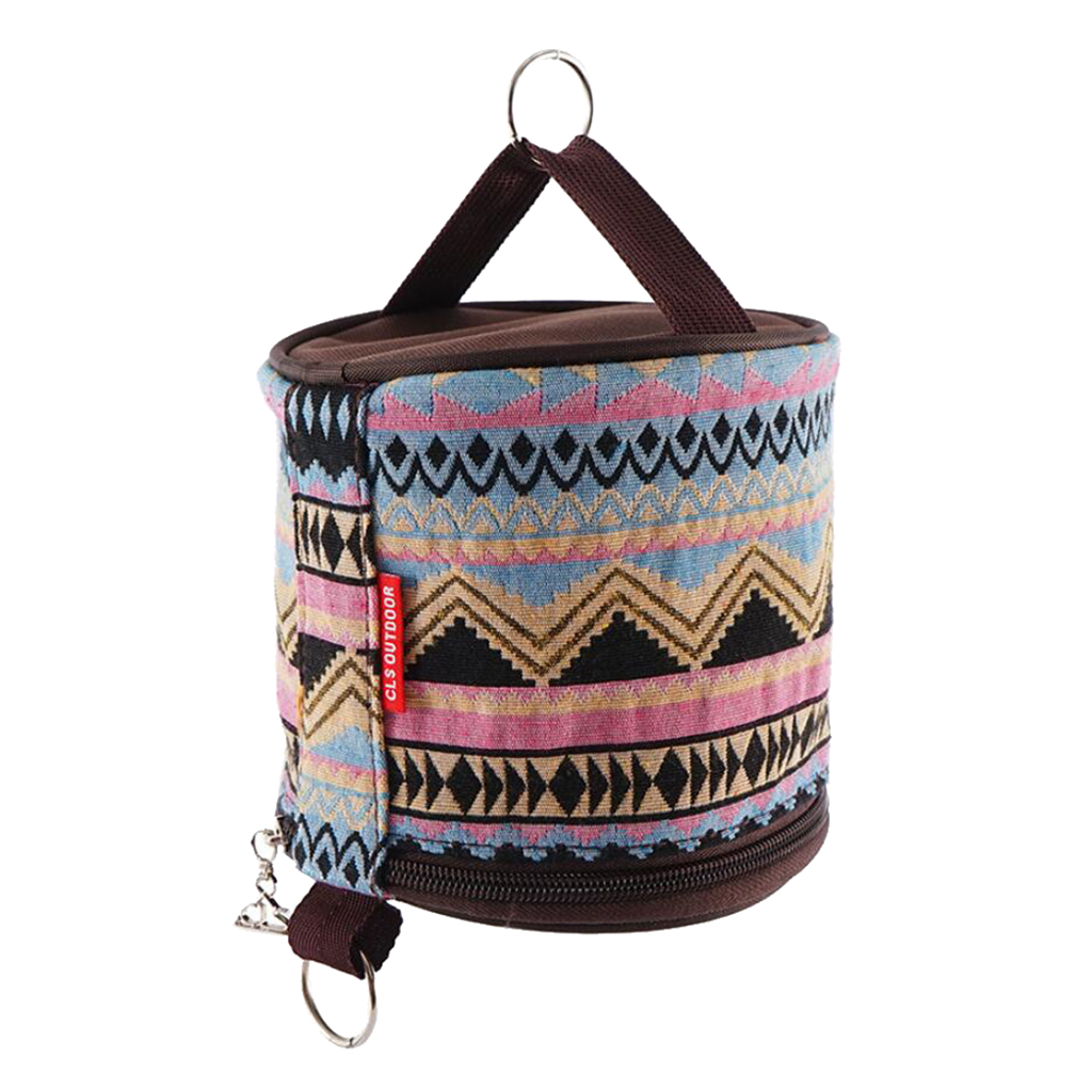 Camping Tent Folding Toilet Paper Hanging Holder Roll Case