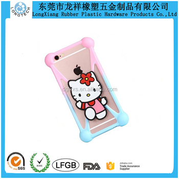 Soft Silicone Mobile Case Cover Hello Kitty Silicone Cell Phone Protective Cases