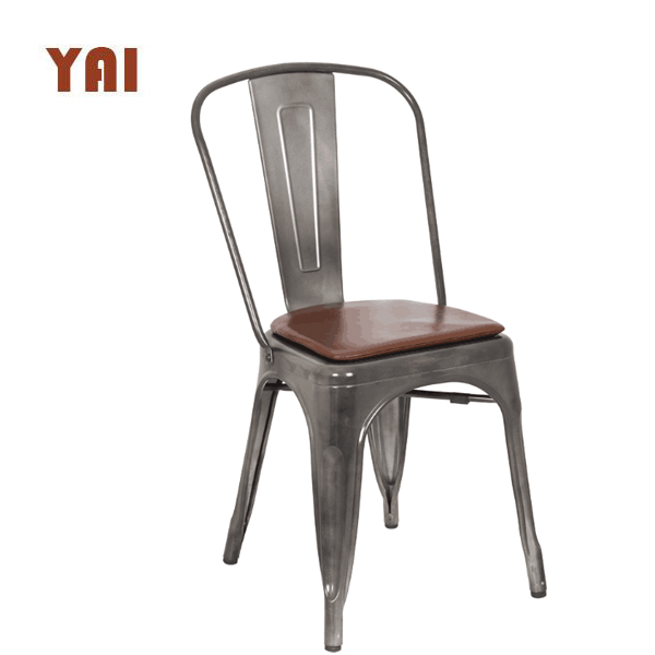 Wholesale stackable used restaurant furniture outdoor vintage metal dining room industrial restaurant chairs for sale