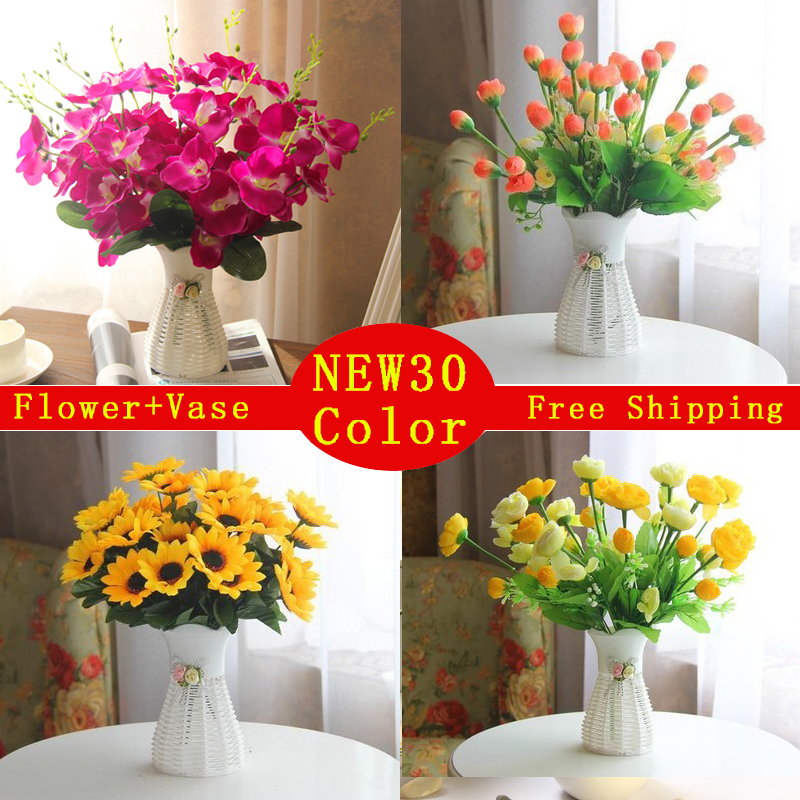 //encrypted-tbn0.gstatic.com/images?q\u003dtbnANd9GcS8Fr6-44-_8AAeQXGFXMuTVDV8KpwoXVKW9Ki7VipaD6nLIhvARg & quality plastic vase + silk flowers artificial flower set home flowers decoration artificial wedding decor Free Shipping