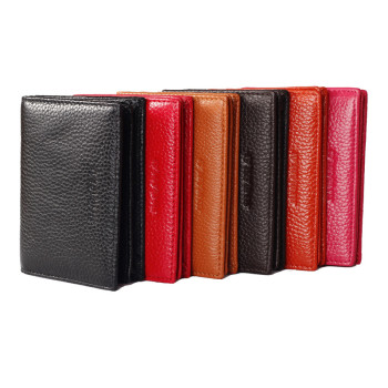 Newly branded Customized best brands men's leather minimalist slim wallet