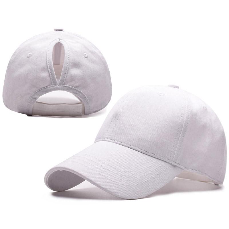 Low profile blank khaki custom mesh back ponytail baseball cap for women