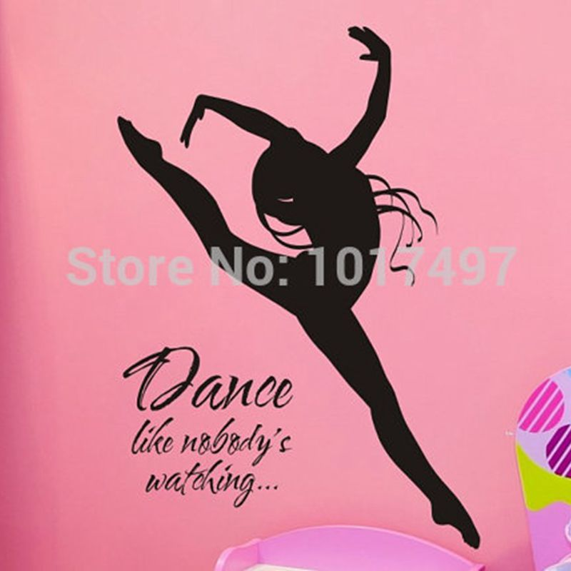 Wall Decal Dance Like Nobodys Watching With Dancer Vinyl